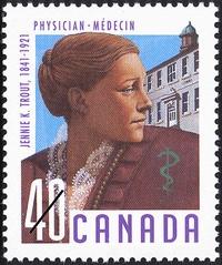 Jennie Kidd Trout - Canada Post Stamp